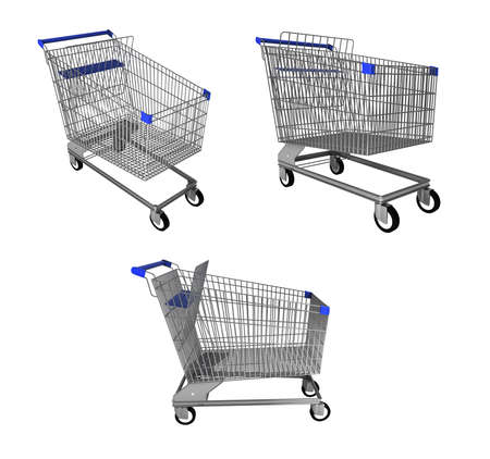 shopping trolley: Shopping trolley collage Stock Photo