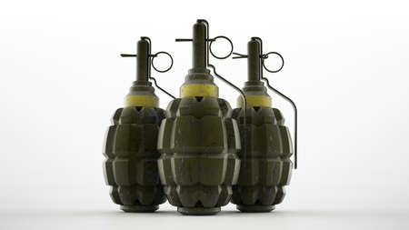 handgrenade: World war two pinapple style hand grenades