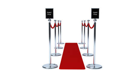vip area: VIP chrome Entrance barriers with velvet rope Stock Photo