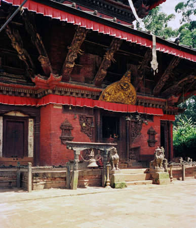 eastern: Eastern religious temple in Nepal Stock Photo