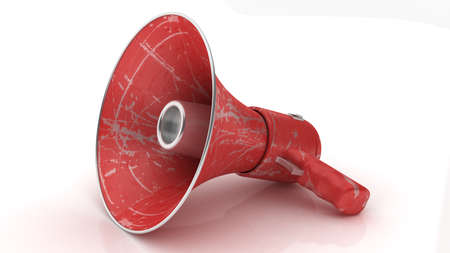 clipping: Megaphone bullhorn or loudspeaker isolated with clipping path