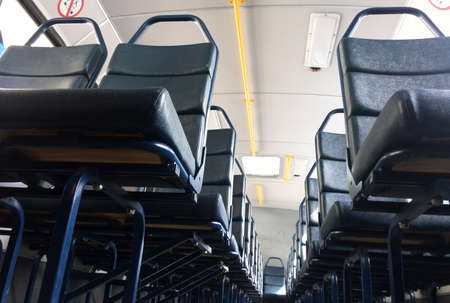 developing country: close up of seats on public transport