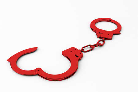 policing: close up of handcuffs Stock Photo