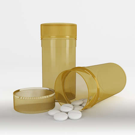 pills or drugs medicine holder or container Stock Photo
