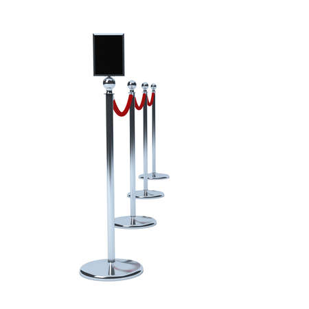 rope barrier: VIP queue or rope barrier Stock Photo