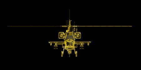 wire frame: X-ray wire frame render of game helicopter
