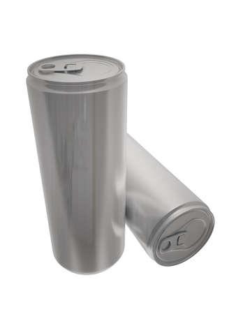 reflective: reflective aliminium energy drink can Stock Photo