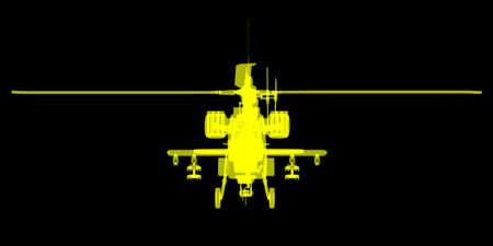 apache: futuristic X ray view of Apache helicopter