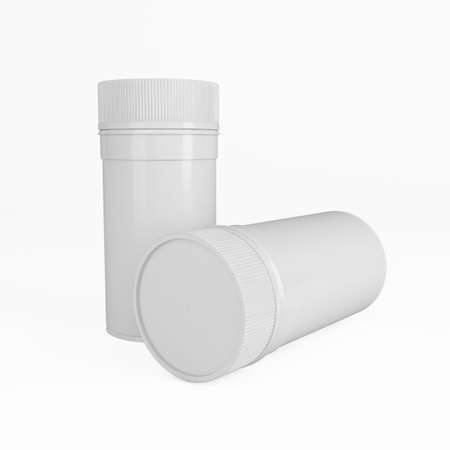 dispensary: drug container for medicine and pills at chemist or doctor