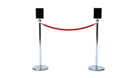rope barrier: brand poster area on VIP rope barrier