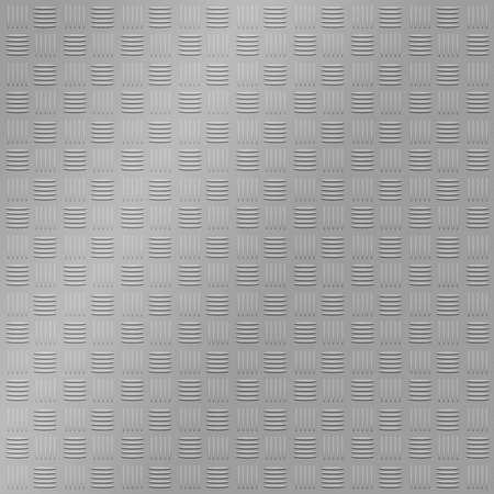 diamond in the rough: silver steel texture treadplate illustration