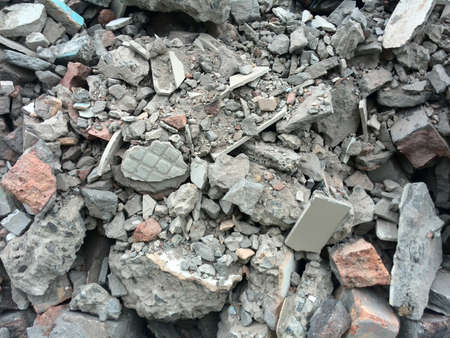 demolish: rubble or ruined building material after demolishion