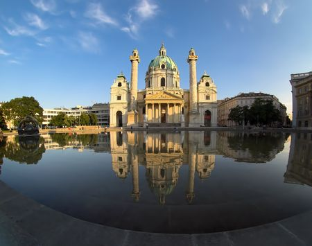 st charles: Cattedrale della st Charles (Karlskirche) a Vienna.
