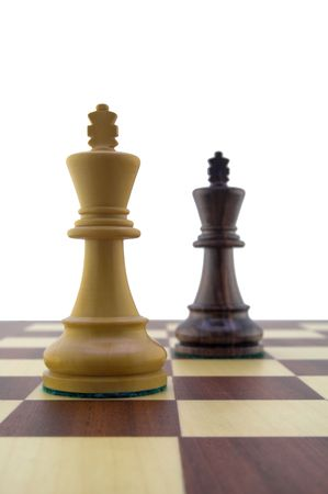 Chess pieces - white and black king Stock Photo - 888382