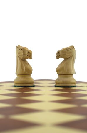 Chess pieces - two white knights Stock Photo - 888388