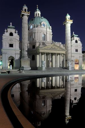 st charles: St. Charles Cathedral (Karlskirche) in Vienna.