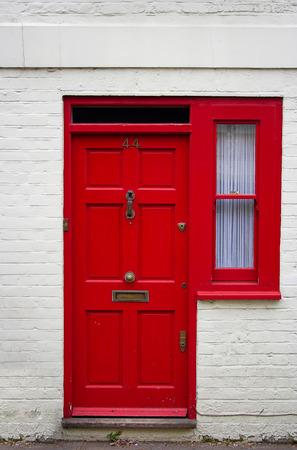 Red front door - the picture was taken in London.