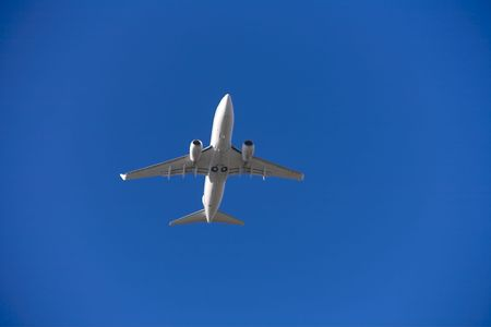 Photo of an airplane just before landing. Stock Photo - 1748077