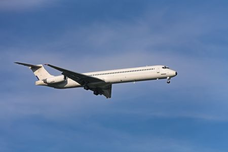 Photo of an airplane just before landing. Stock Photo - 1748078