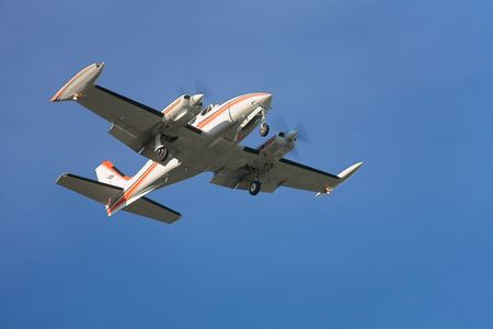Photo of an airplane just before landing. Stock Photo - 1748080
