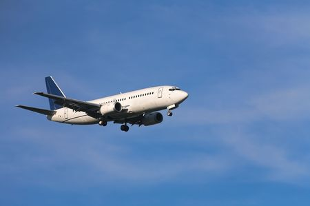 Photo of an airplane just before landing. Stock Photo - 1748079
