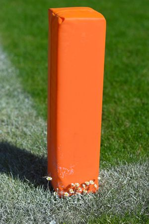 goalline: Goal marker at a footbal pitch