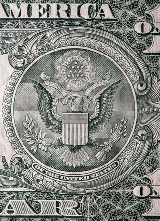 Extreme macro shot of a one dollar bill. Stock Photo - 2150269