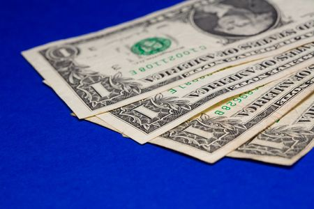 An extreme macro shot of a spread of dollar bils. Stock Photo - 2150243
