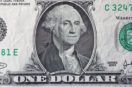 Extreme macro shot of a one dollar bill. Stock Photo - 2160229
