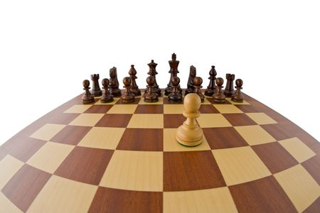 Fisheye view of a chessboard. Stock Photo - 3750918
