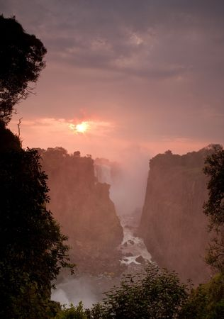 zimbabwe: Victoria Falls in Zimbabwe.