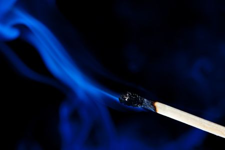 smoldering: Smoldering match that has just been extinguished.