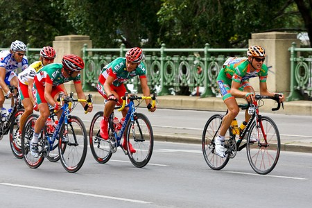 peloton: Vienna, Austria - July 13: The final stage of the tour of Austria ends in Vienna with an overall victory of Austrian rider Thomas Rohregger.