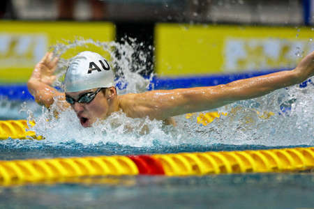 Vienna, Austria - November 30 2008; 400 swimmers from 12 nations take part in the 35th Stroeck Austrian Qualifying. Stock Photo - 8194600
