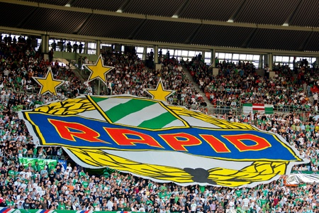 VIENNA,  AUSTRIA - JULY 19 Friendship game between SK Rapid and Liverpool FC: SK Rapid wins 1:0 on July 19, 2009 in Vienna, Austria. Stock Photo - 8448865