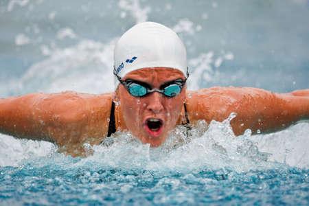 sportsman: San POELTEN, AUSTRIA - Campeonato de Austria de nataci�n al aire libre el 9 de agosto: Nina Dittrich califica para medley finales la mujer de 200 m el 9 de agosto de 2009 en St Poelten, Austria.