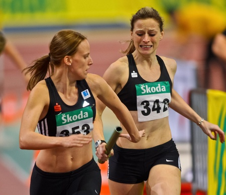 VIENNA, AUSTRIA - FEBRUARY 19: Indoor track and field championship. event on February 19, 2011 in Vienna, Austria.