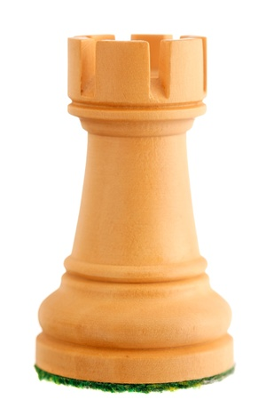 chess rook: Photo of a single chess piece - a white rook.