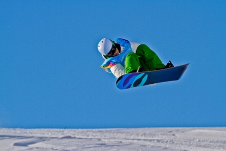 KUEHTAI, AUSTRIA - JANUARY 14 Tim-Kevin Ravnjak (Slovenia) places second in the mens halfpipe event on January 14, 2012 in Kuehtai, Austria.