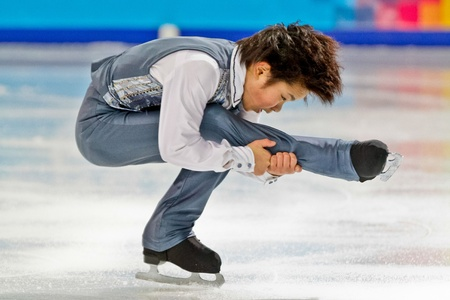 INNSBRUCK, AUSTRIA - JANUARY 14 Shoma Uno (Japan) places second in the figure skating short program for men on January 14, 2012 in Innsbruck, Austria. Editorial