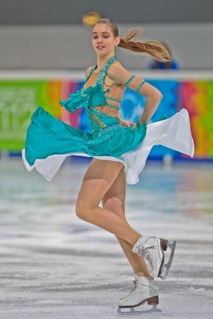 INNSBRUCK, AUSTRIA - JANUARY 15 Innsbruck, Aleksandra Nazarova and Maxim Nikitin (Ukraine) place second in the short dance competition of the pairs ice dance on January 15, 2012 in Innsbruck, Austria. Editorial