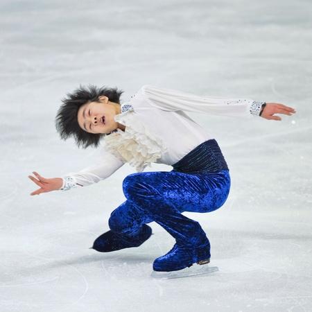 INNSBRUCK, AUSTRIA - JANUARY 16 Shu Nakamura (Japan) places 6th in the mens figure skating event on January 16, 2012 in Innsbruck, Austria. Editorial