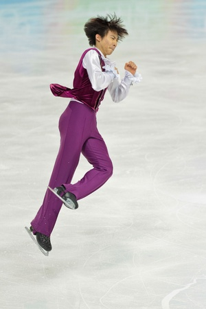 INNSBRUCK, AUSTRIA - JANUARY 16 June Hyoung Lee (Korea) places 4th in the mens figure skating event on January 16, 2012 in Innsbruck, Austria.