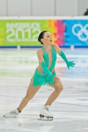 INNSBRUCK, AUSTRIA - JANUARY 17 Elizaveta Tuktamisheva (Russia) wins the ladies' figure skating event on January 17, 2012 in Innsbruck, Austria. Stock Photo - 12160259