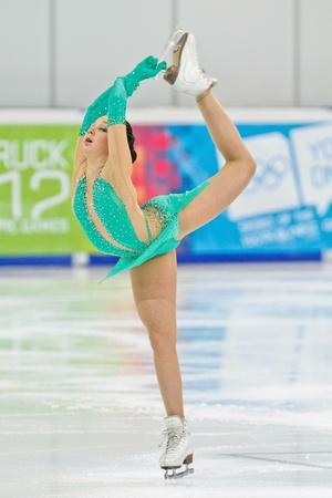 INNSBRUCK, AUSTRIA - JANUARY 17 Elizaveta Tuktamisheva (Russia) wins the ladies' figure skating event on January 17, 2012 in Innsbruck, Austria. Stock Photo - 12160205