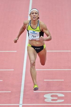 LINZ, AUSTRIA - FEBRUARY 2 Lolo Jones (USA) wins the womens 60m hurdles event on February 2, 2012 in Linz, Austria.
