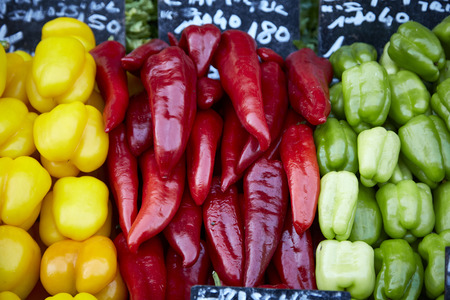 vegetable many healthy colorful bell pepper sweet pepper Stock fotó