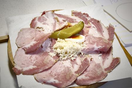 food plate sliced meat delicious 版權商用圖片