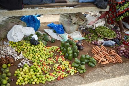fresh raw vegetable street food