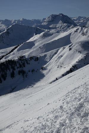 winter mountains scenic beautiful sky panorama 版權商用圖片